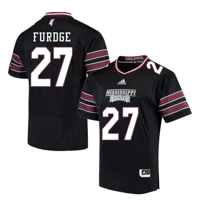 Men #27 Esaias Furdge Mississippi State Bulldogs College Football Jerseys Sale-Black