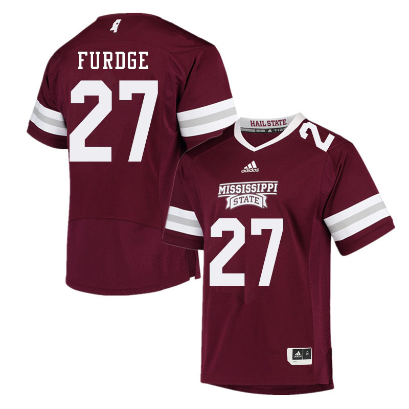 Men #27 Esaias Furdge Mississippi State Bulldogs College Football Jerseys Sale-Maroon