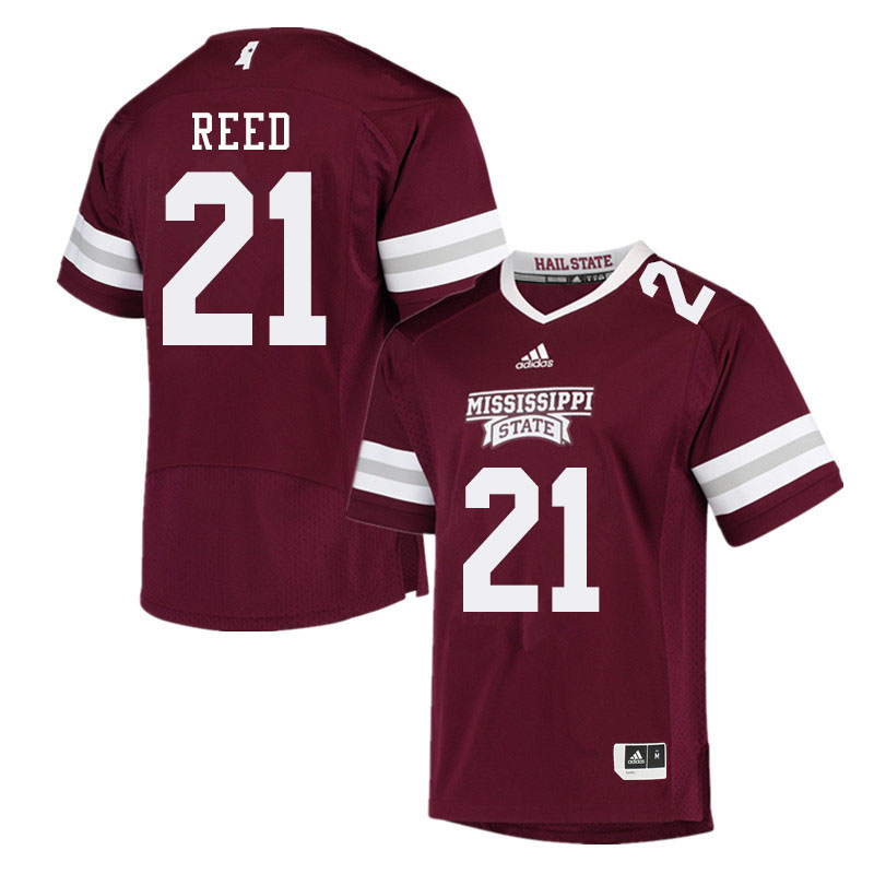 Men #21 Jaylon Reed Mississippi State Bulldogs College Football Jerseys Sale-Maroon