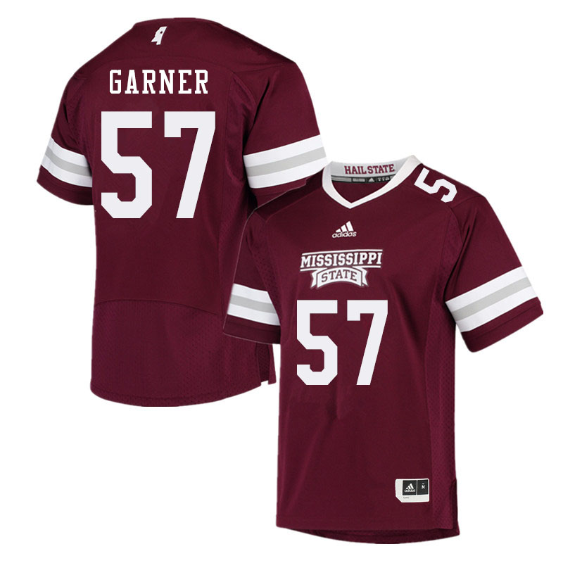 Men #57 John Garner Mississippi State Bulldogs College Football Jerseys Sale-Maroon