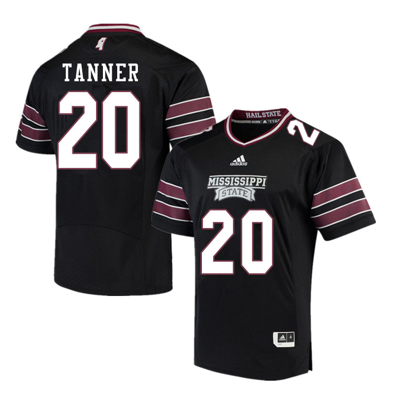 Men #20 Lee Tanner Mississippi State Bulldogs College Football Jerseys Sale-Black