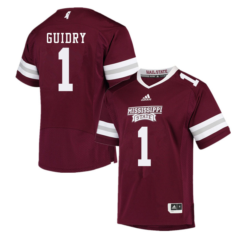 Men #1 Stephen Guidry Mississippi State Bulldogs College Football Jerseys Sale-Maroon