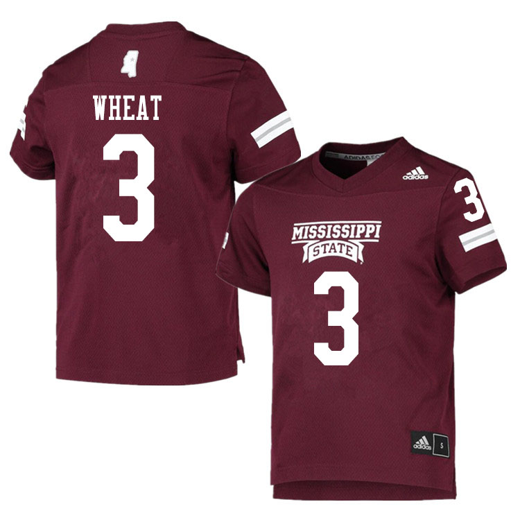 Men #3 Aaron Brule Mississippi State Bulldogs College Football Jerseys Sale-Maroon