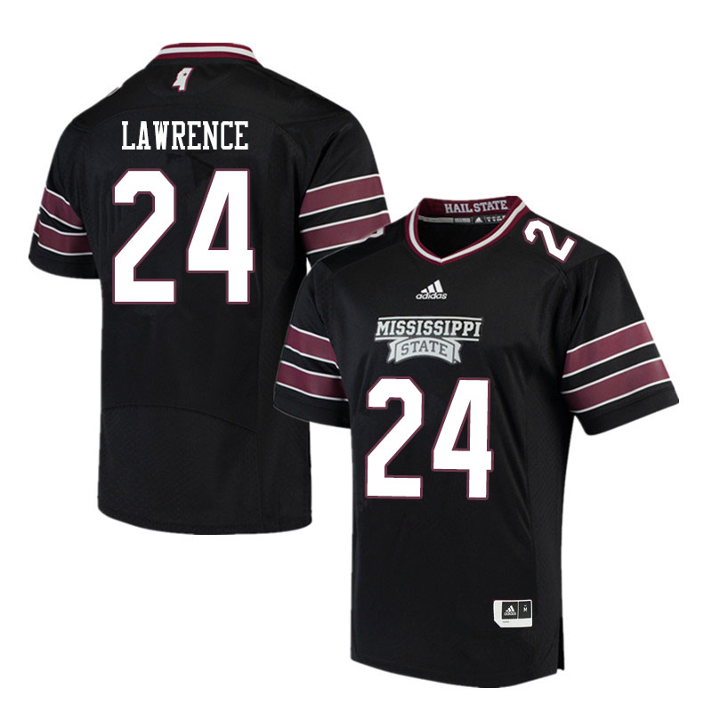 Men #24 Dylan Lawrence Mississippi State Bulldogs College Football Jerseys Sale-Black
