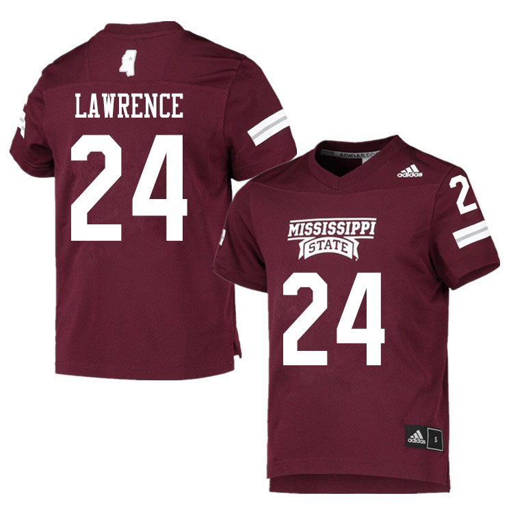 Men #24 Dylan Lawrence Mississippi State Bulldogs College Football Jerseys Sale-Maroon