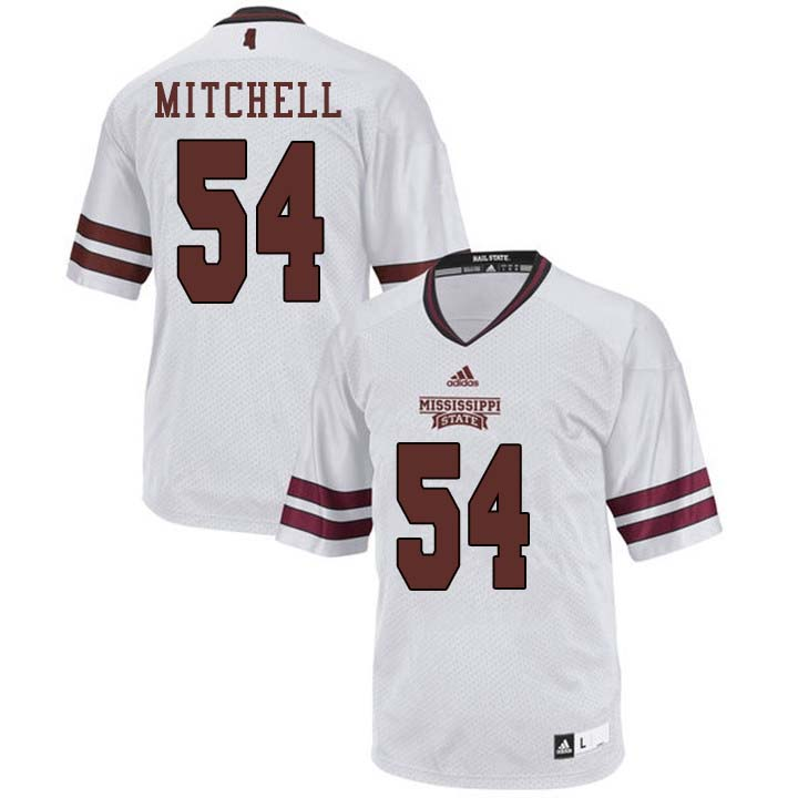 Men #54 Blake Mitchell Mississippi State Bulldogs College Football Jerseys Sale-White