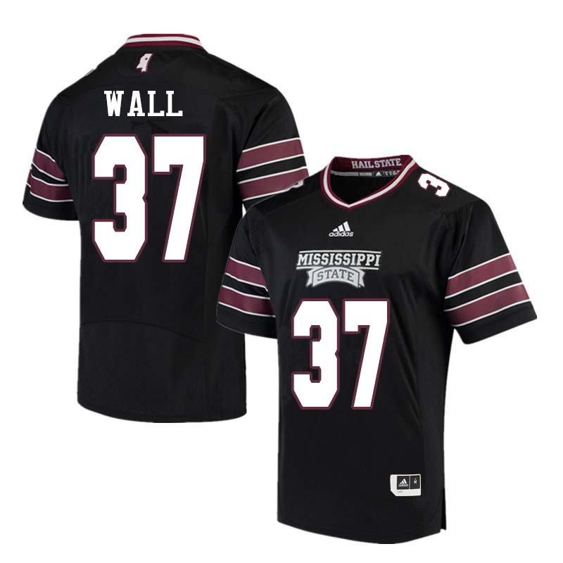 Men #37 Brad Wall Mississippi State Bulldogs College Football Jerseys Sale-Black