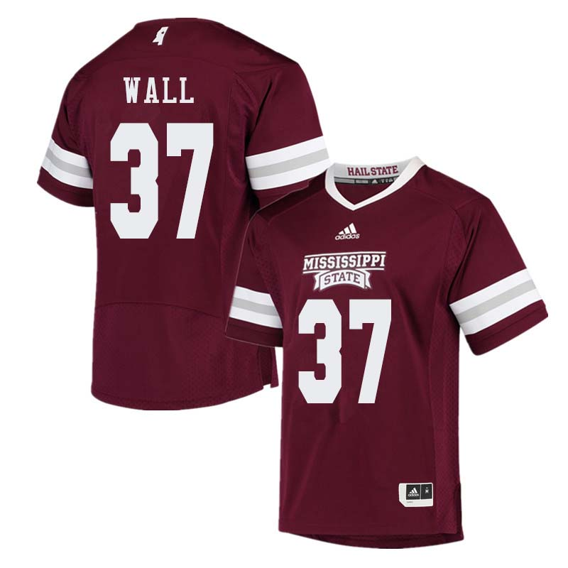 Men #37 Brad Wall Mississippi State Bulldogs College Football Jerseys Sale-Maroon