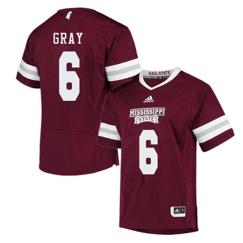 Men #6 Donald Gray Mississippi State Bulldogs College Football Jerseys Sale-Maroon