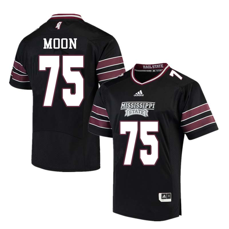 Men #75 Harrison Moon Mississippi State Bulldogs College Football Jerseys Sale-Black