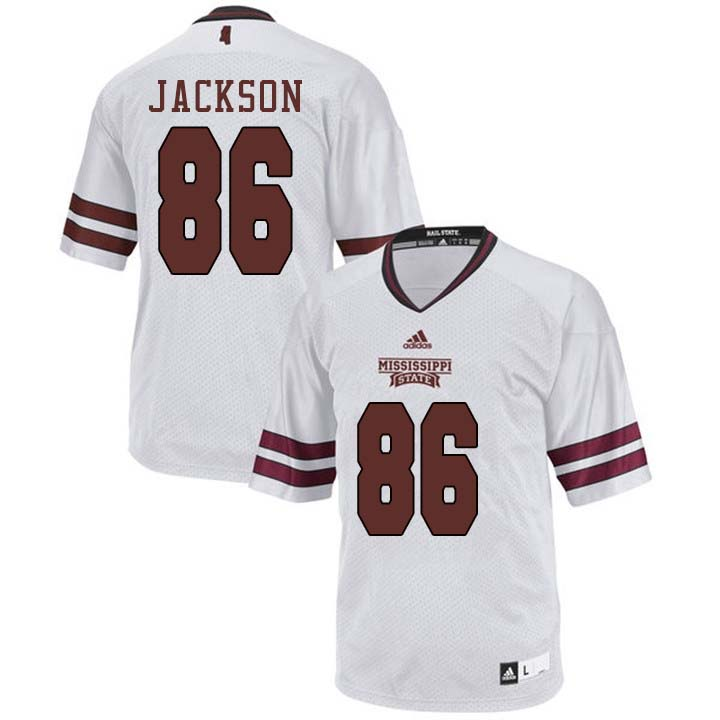 Men #86 Jesse Jackson Mississippi State Bulldogs College Football Jerseys Sale-White