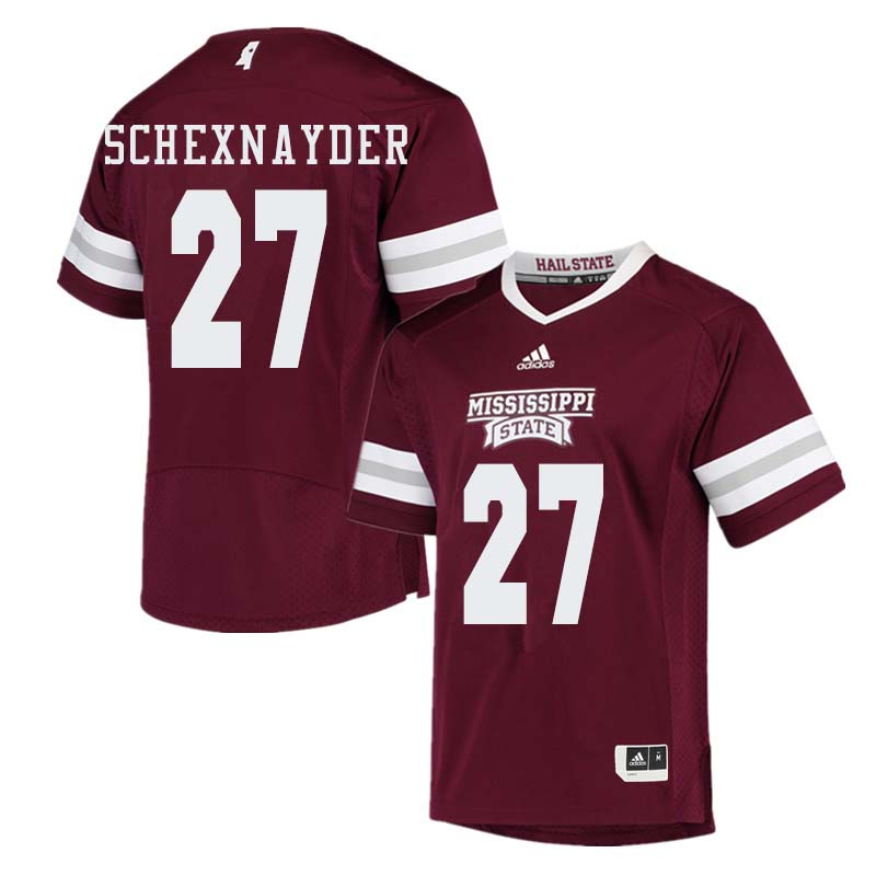 Men #27 Kody Schexnayder Mississippi State Bulldogs College Football Jerseys Sale-Maroon