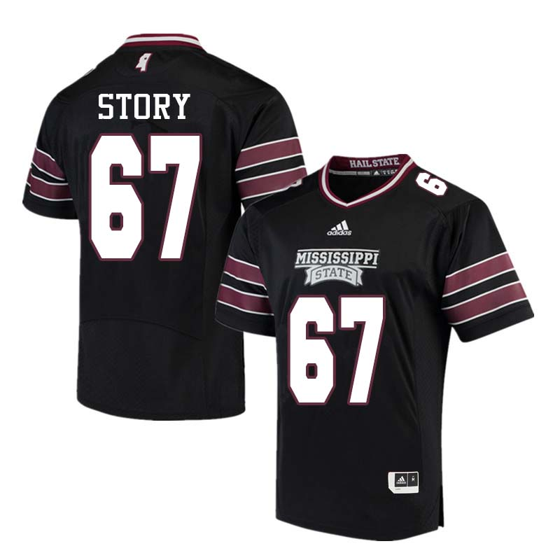 Men #67 Michael Story Mississippi State Bulldogs College Football Jerseys Sale-Black