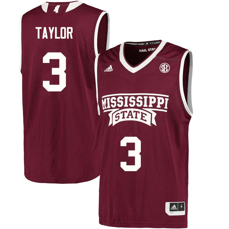 Men #3 Myah Taylor Mississippi State Bulldogs College Basketball Jerseys Sale-Maroon