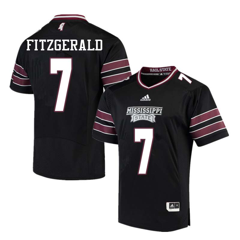 Men #7 Nick Fitzgerald Mississippi State Bulldogs College Football Jerseys Sale-Black