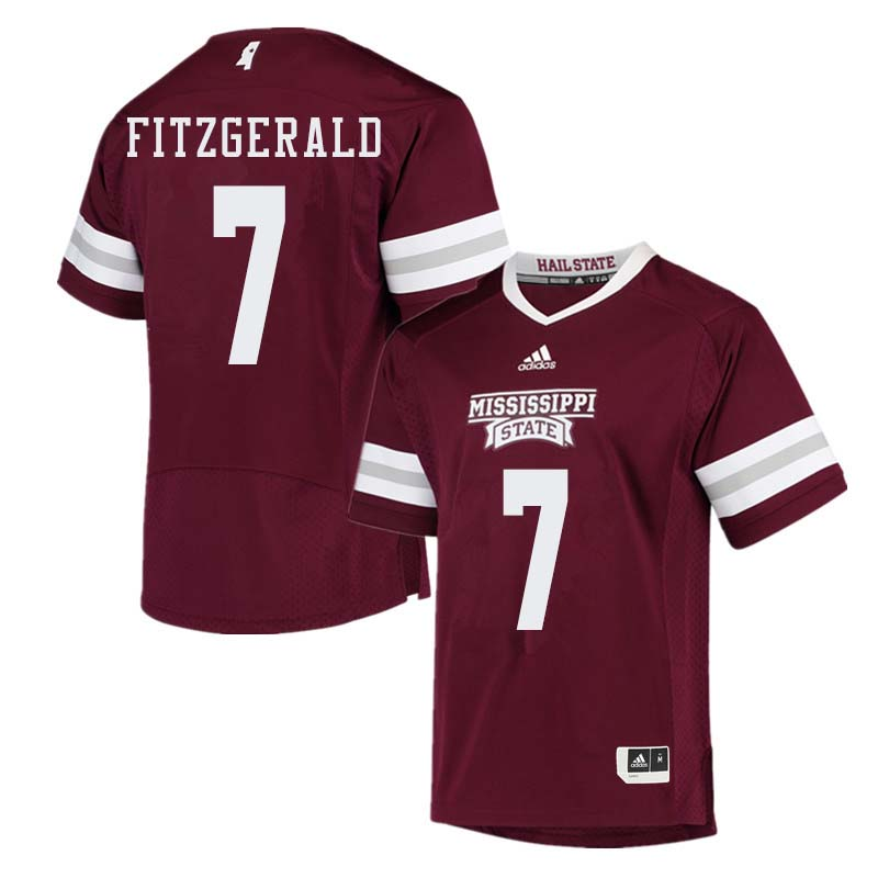 Men #7 Nick Fitzgerald Mississippi State Bulldogs College Football Jerseys Sale-Maroon