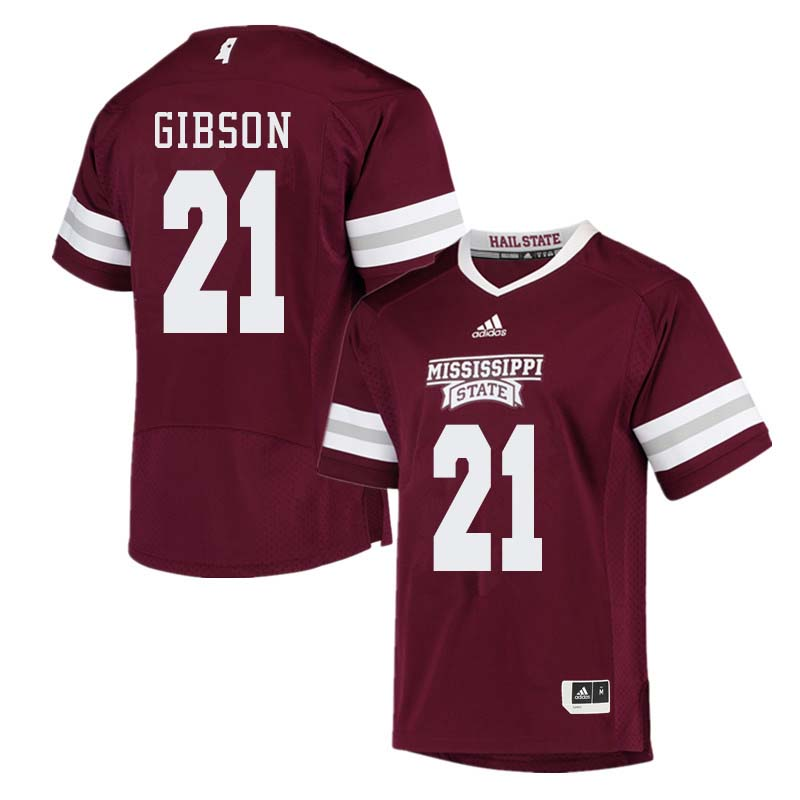 Men #21 Nick Gibson Mississippi State Bulldogs College Football Jerseys Sale-Maroon