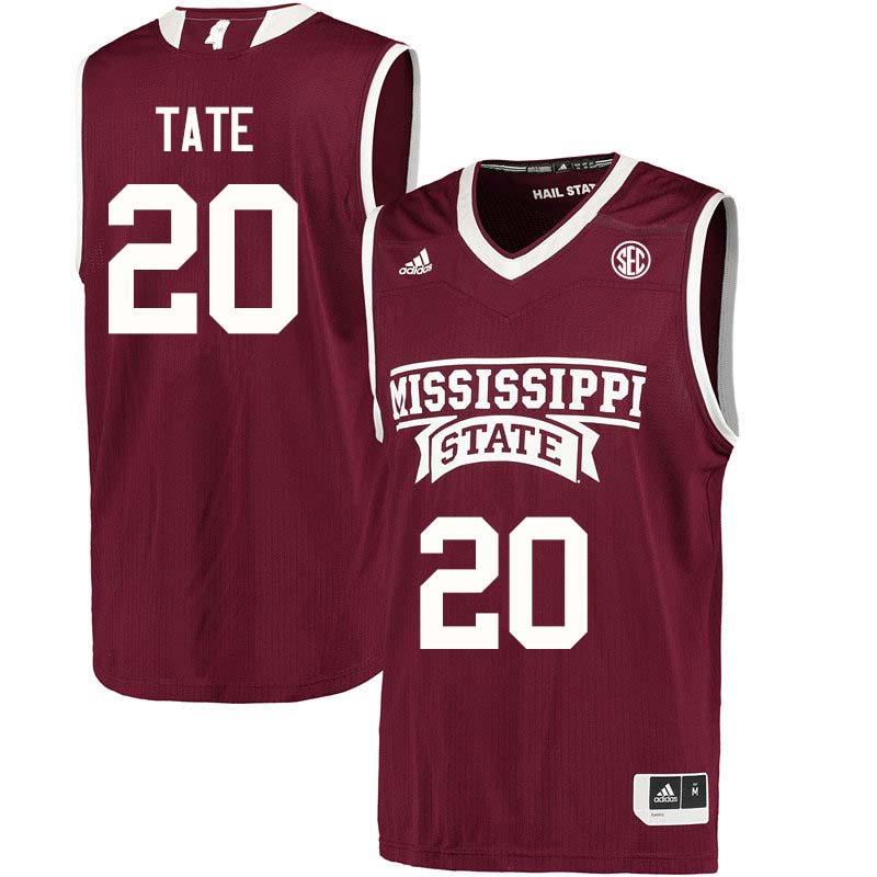 Men #20 Nyah Tate Mississippi State Bulldogs College Basketball Jerseys Sale-Maroon