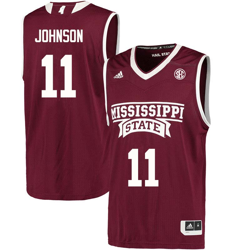 Men #11 Roshunda Johnson Mississippi State Bulldogs College Basketball Jerseys Sale-Maroon