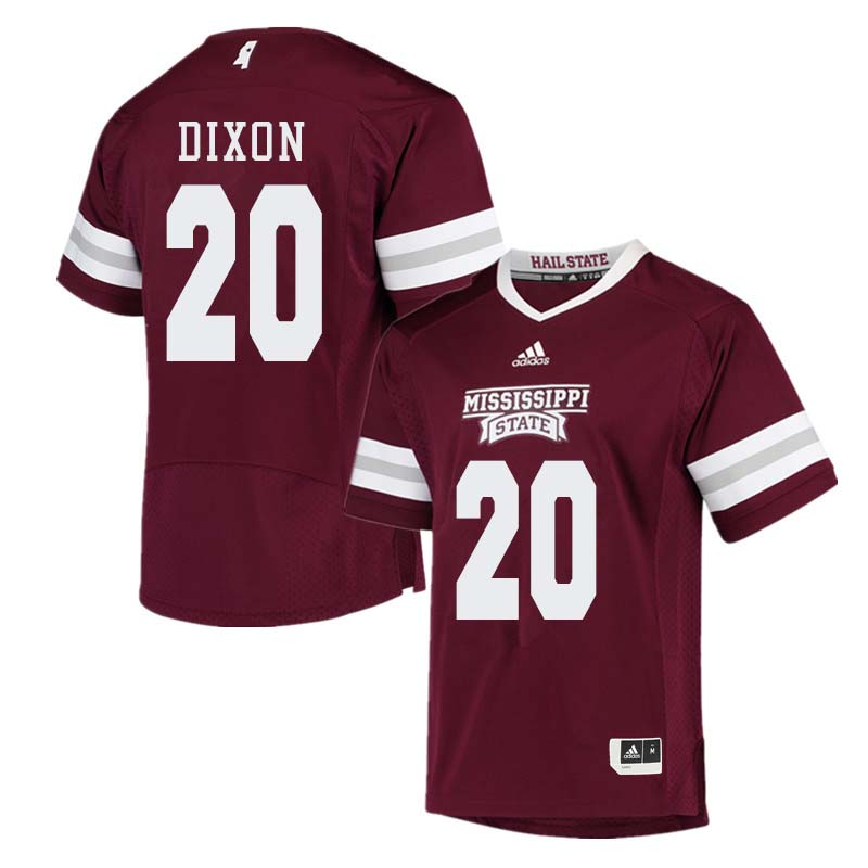 Men #20 Taury Dixon Mississippi State Bulldogs College Football Jerseys Sale-Maroon