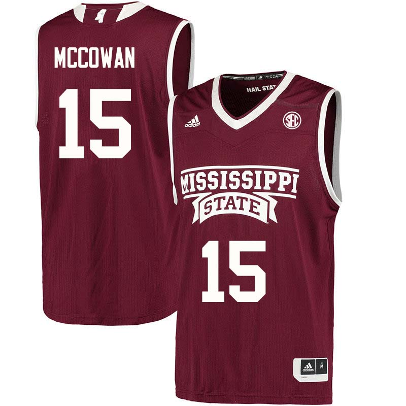 Men #15 Teaira McCowan Mississippi State Bulldogs College Basketball Jerseys Sale-Maroon