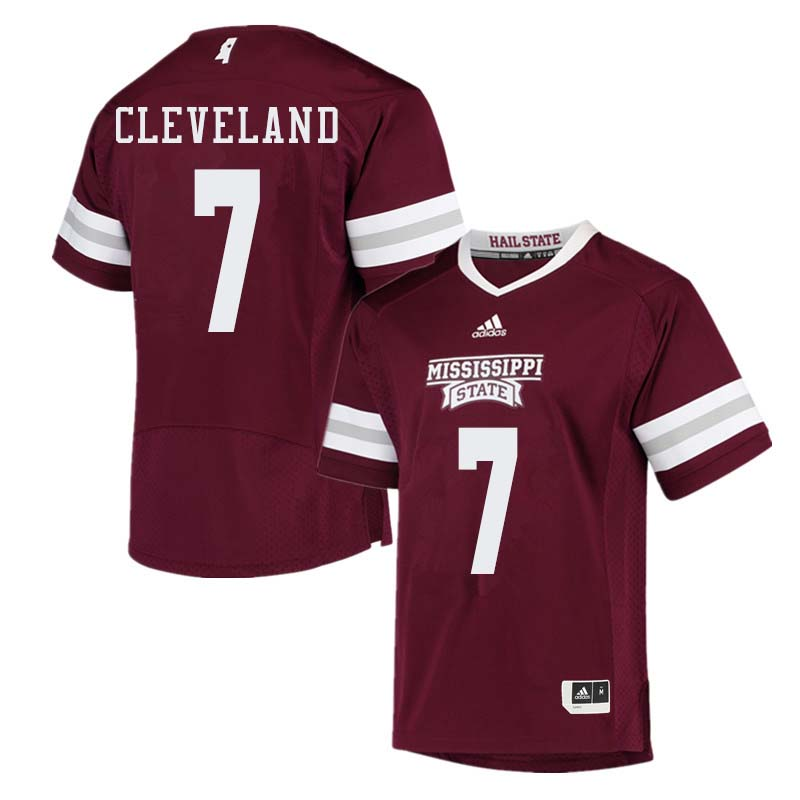 Men #7 Tolando Cleveland Mississippi State Bulldogs College Football Jerseys Sale-Maroon