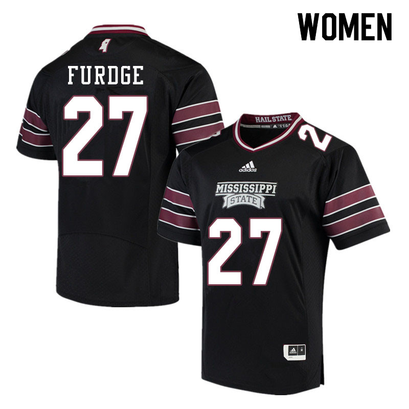Women #27 Esaias Furdge Mississippi State Bulldogs College Football Jerseys Sale-Black