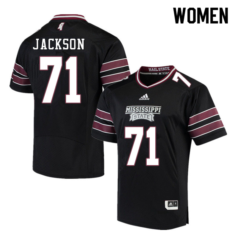 Women #71 James Jackson Mississippi State Bulldogs College Football Jerseys Sale-Black