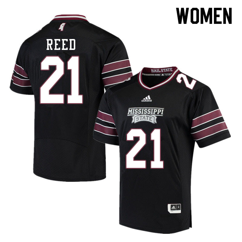 Women #21 Jaylon Reed Mississippi State Bulldogs College Football Jerseys Sale-Black