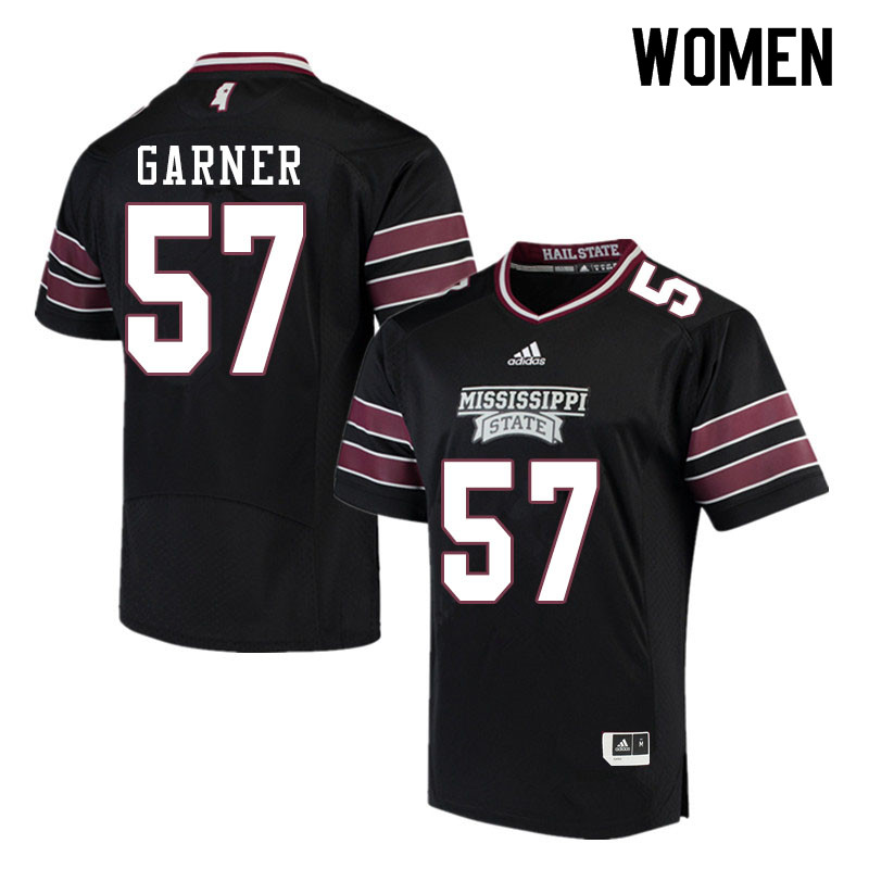 Women #57 John Garner Mississippi State Bulldogs College Football Jerseys Sale-Black