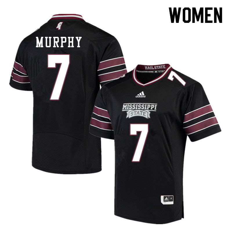 Women #7 Marcus Murphy Mississippi State Bulldogs College Football Jerseys Sale-Black