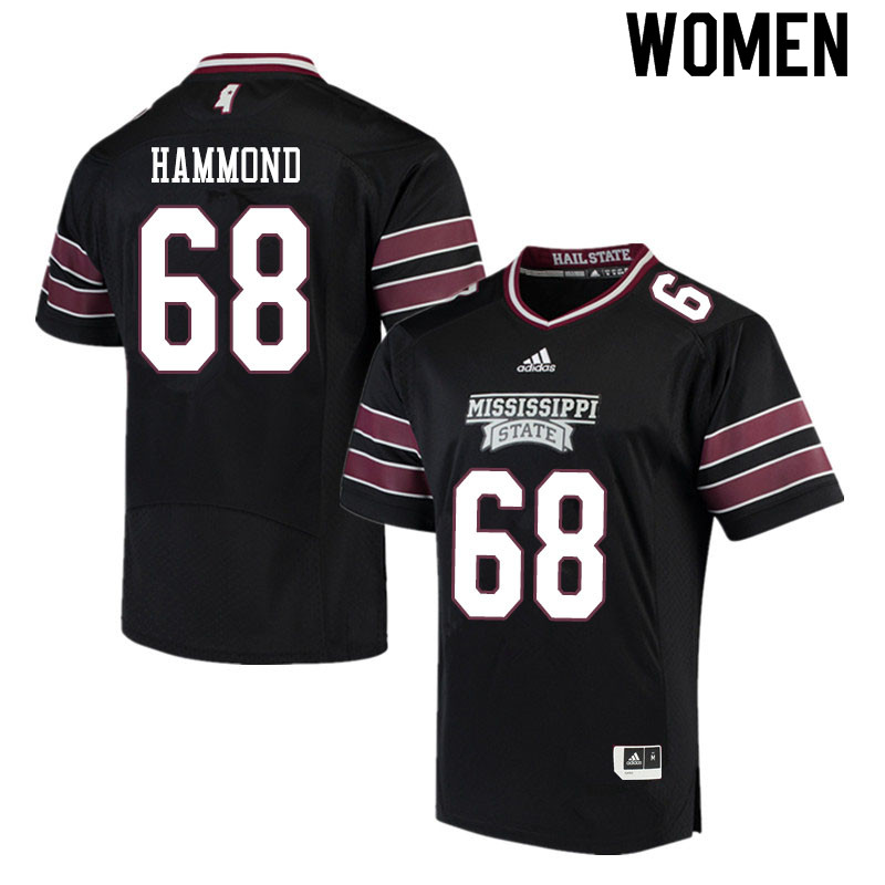 Women #68 Hayes Hammond Mississippi State Bulldogs College Football Jerseys Sale-Black