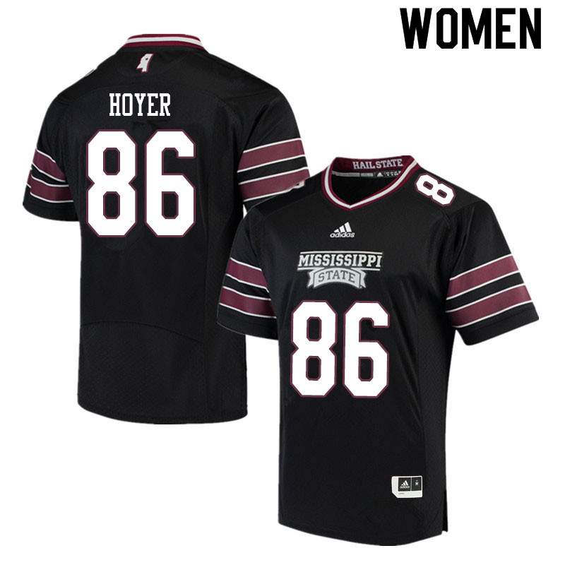 Women #86 Jordon Hoyer Mississippi State Bulldogs College Football Jerseys Sale-Black