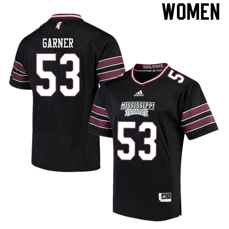 Women #53 Joseph Garner Mississippi State Bulldogs College Football Jerseys Sale-Black