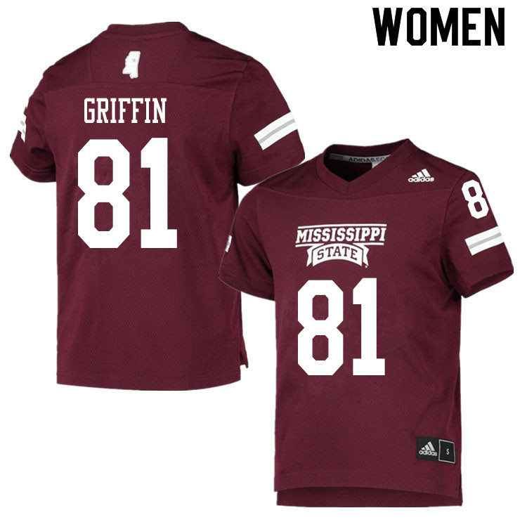 Women #81 Lideatrick Griffin Mississippi State Bulldogs College Football Jerseys Sale-Maroon