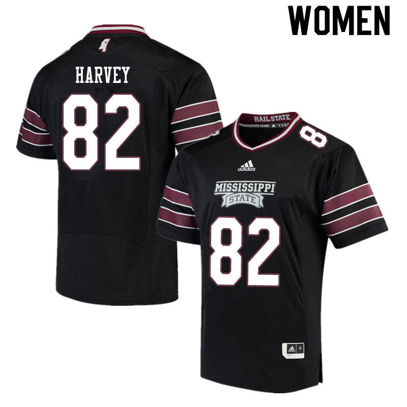 Women #82 Rufus Harvey Mississippi State Bulldogs College Football Jerseys Sale-Black