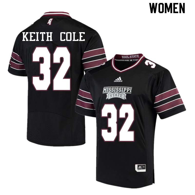 Women #32 Brian Keith Cole Mississippi State Bulldogs College Football Jerseys Sale-Black