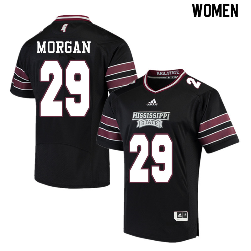 Women #29 C.J. Morgan Mississippi State Bulldogs College Football Jerseys Sale-Black