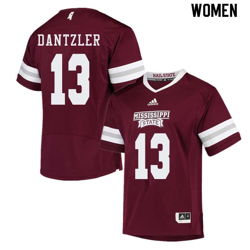Women #13 Cameron Dantzler Mississippi State Bulldogs College Football Jerseys Sale-Maroon