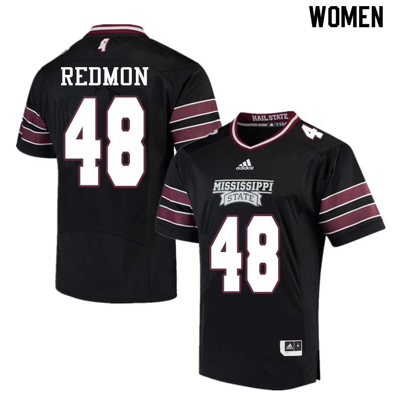 Women #48 Chris Redmon Mississippi State Bulldogs College Football Jerseys Sale-Black