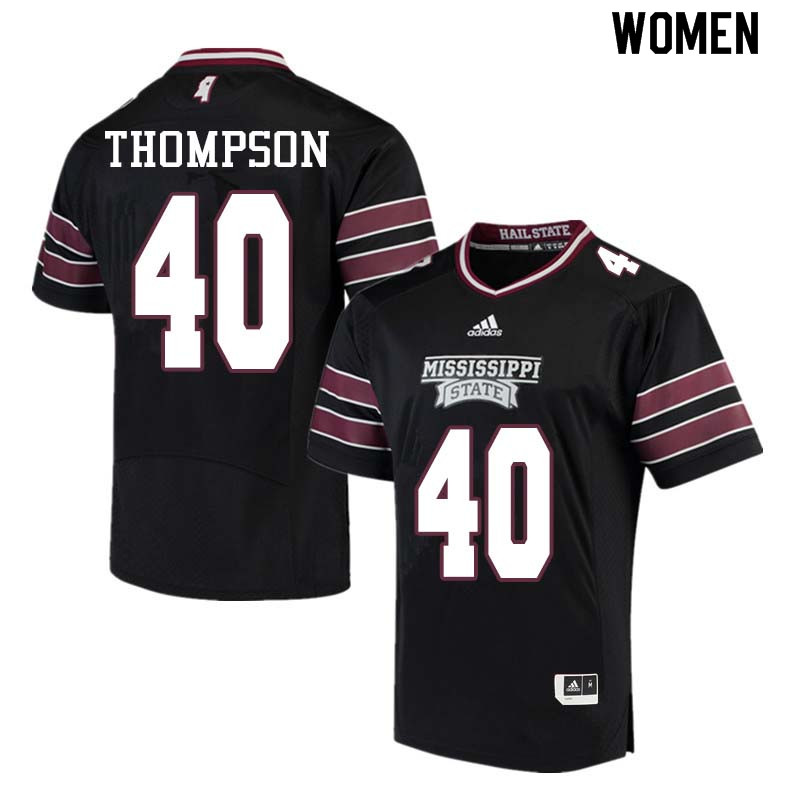 Women #40 Erroll Thompson Mississippi State Bulldogs College Football Jerseys Sale-Black