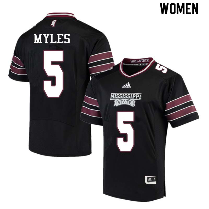 Women #5 Gabe Myles Mississippi State Bulldogs College Football Jerseys Sale-Black