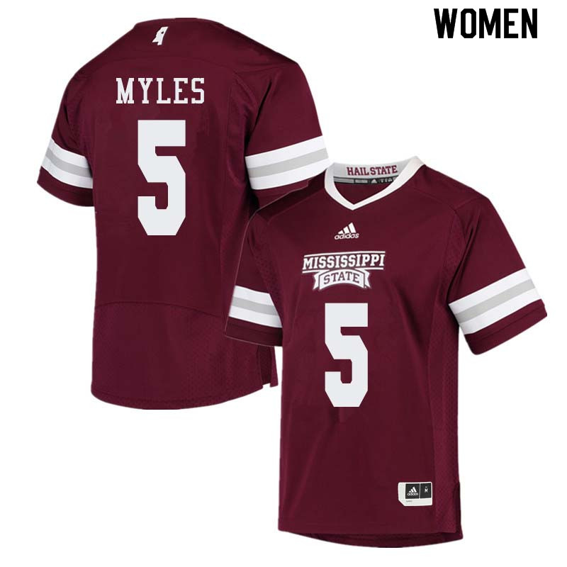 Women #5 Gabe Myles Mississippi State Bulldogs College Football Jerseys Sale-Maroon
