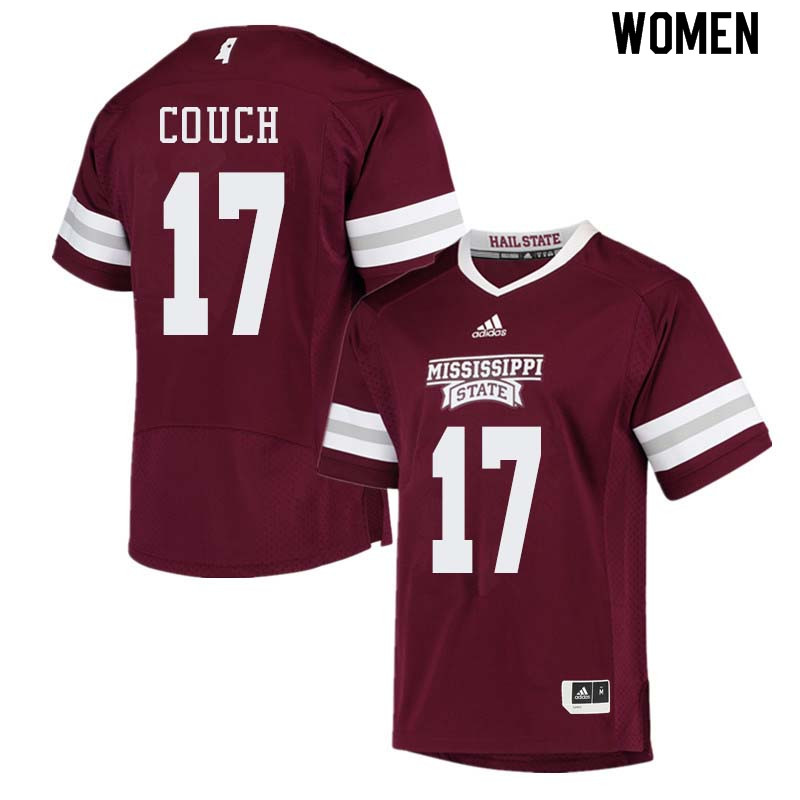 Women #17 Jamal Couch Mississippi State Bulldogs College Football Jerseys Sale-Maroon