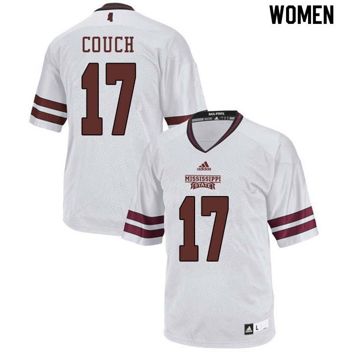 Women #17 Jamal Couch Mississippi State Bulldogs College Football Jerseys Sale-White