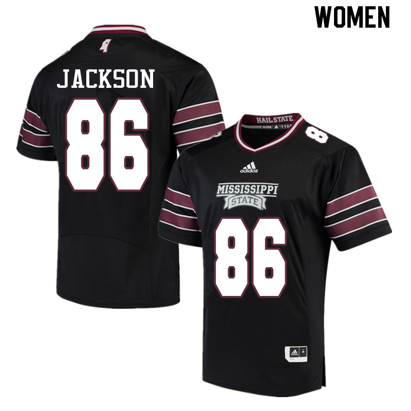 Women #86 Jesse Jackson Mississippi State Bulldogs College Football Jerseys Sale-Black