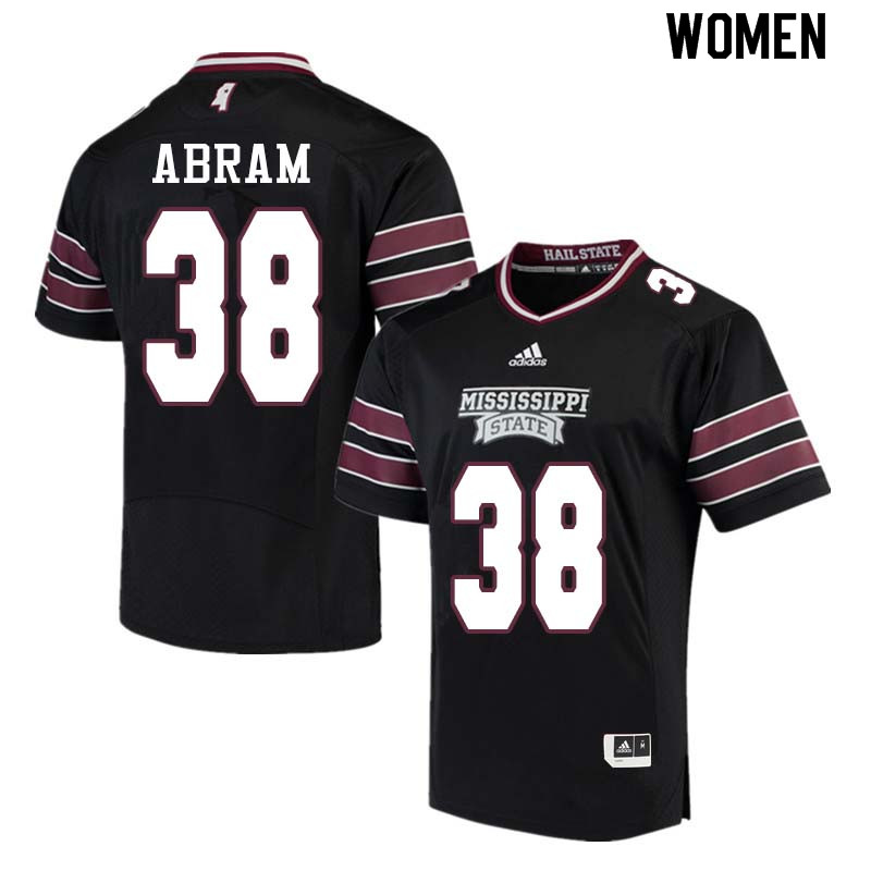 Women #38 Johnathan Abram Mississippi State Bulldogs College Football Jerseys Sale-Black