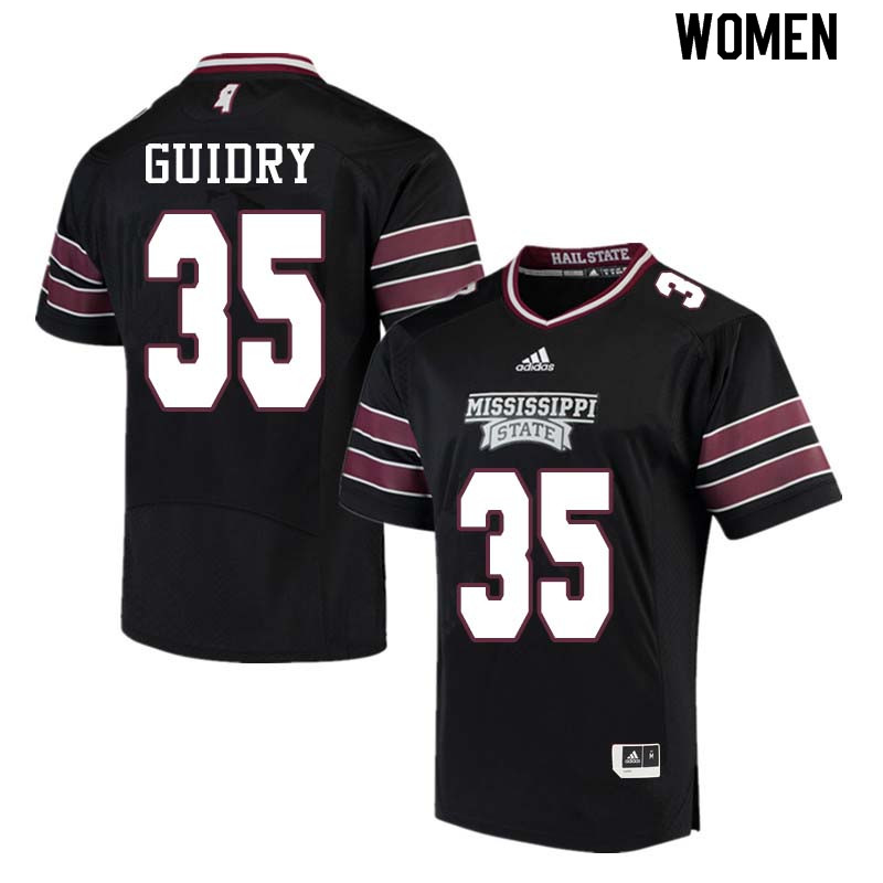Women #35 Landon Guidry Mississippi State Bulldogs College Football Jerseys Sale-Black