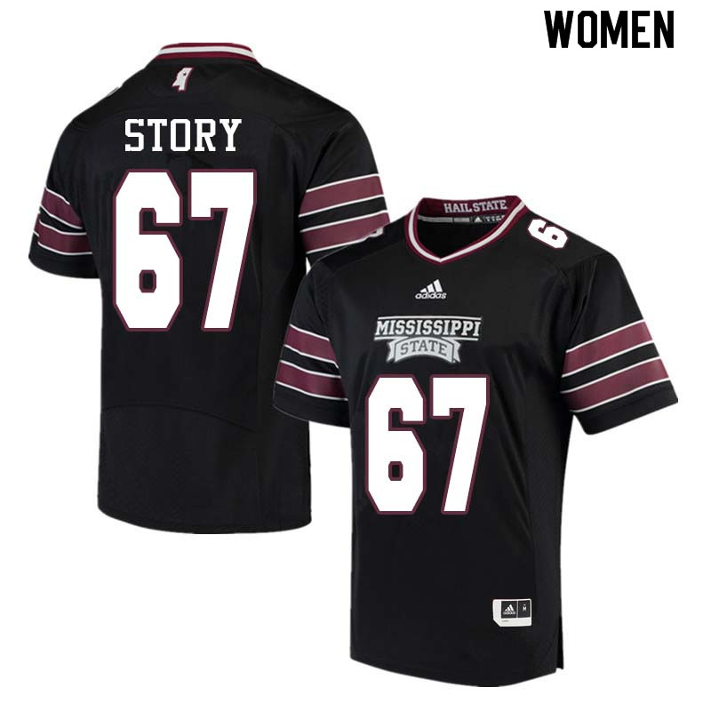 Women #67 Michael Story Mississippi State Bulldogs College Football Jerseys Sale-Black