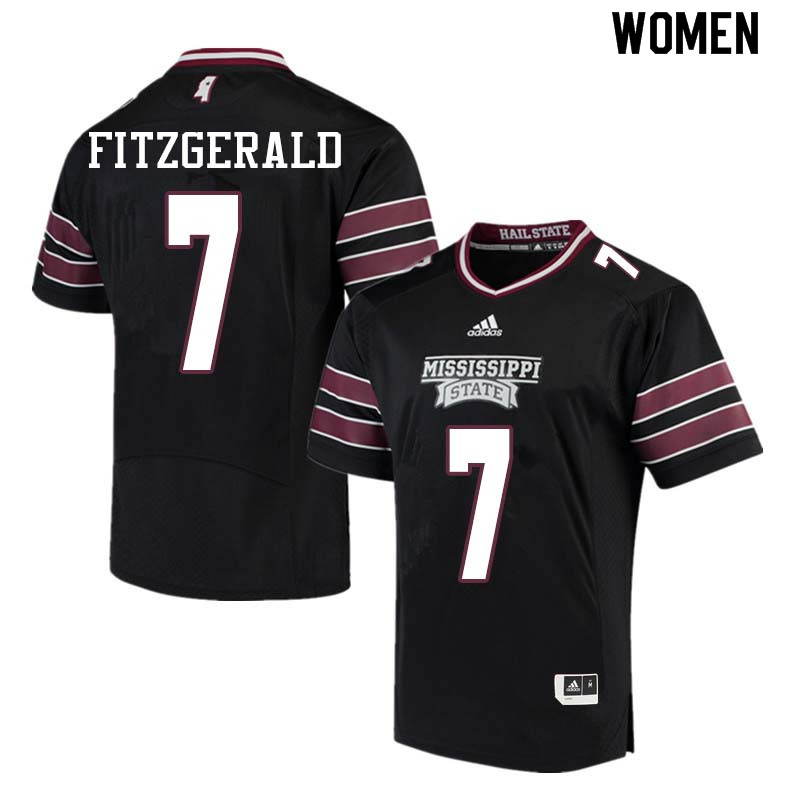 Women #7 Nick Fitzgerald Mississippi State Bulldogs College Football Jerseys Sale-Black